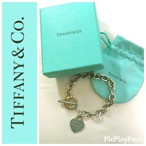 TIFFANY & CO Heart Tag Silver Bracelet (Authentic)